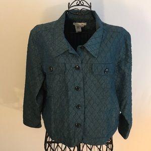 Hunter Green Coldwater Creek Jacket PXL